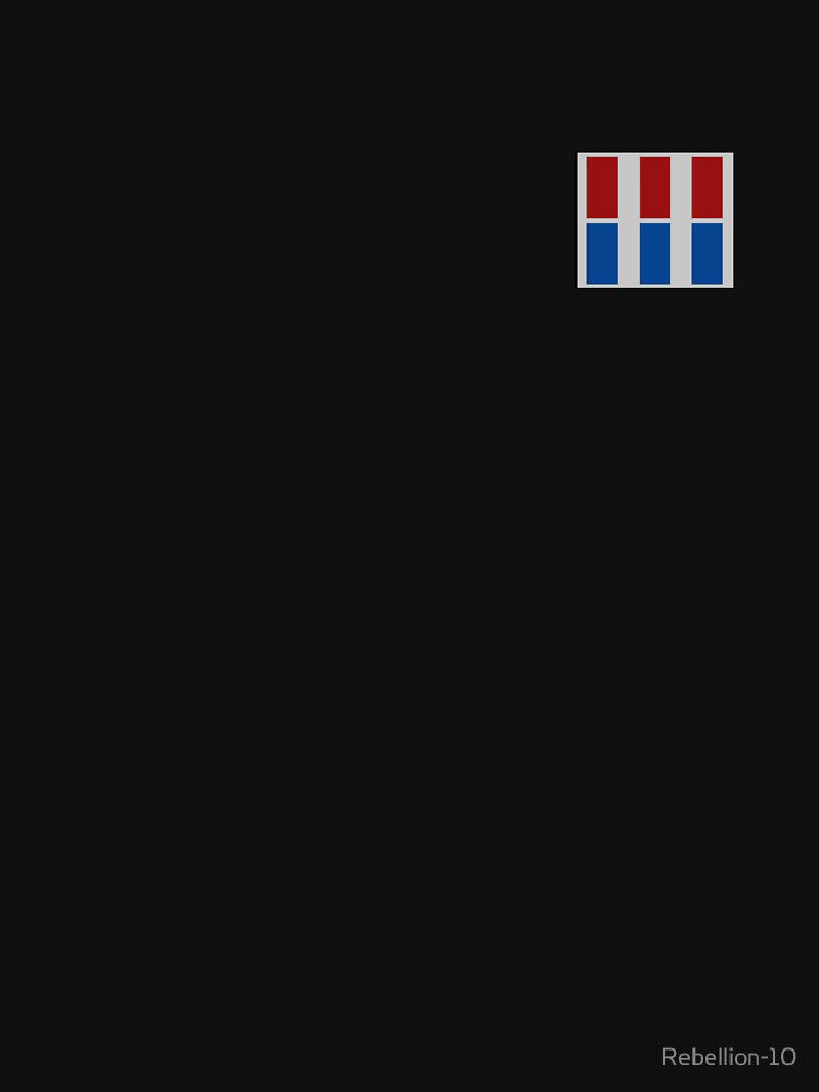 The imperial rank badge used by the galactic empire from the star wars universe. Show that your're an officer loyal towards the galactic empire with this imperial rank badge.