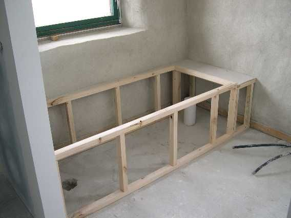 tub framing ideas   Bathtub Installation With Mortar ...