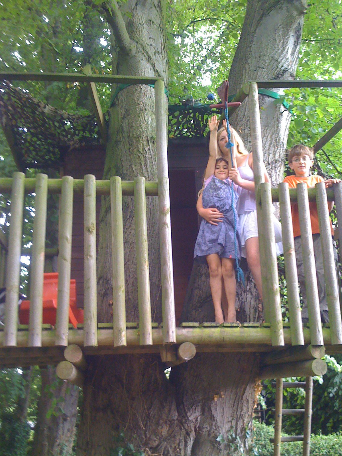 zip line from tree house to... | Cool tree houses, Fairy ...