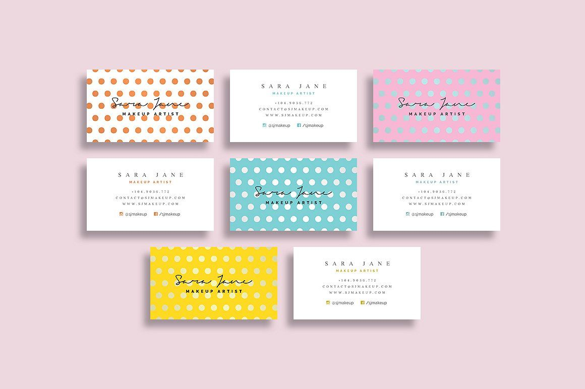 Makeup Artist - Business Card 85 by Cooledition on @creativemarket