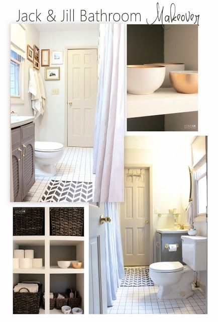 jack jill bathroom reveal bath doors and interiors. Black Bedroom Furniture Sets. Home Design Ideas