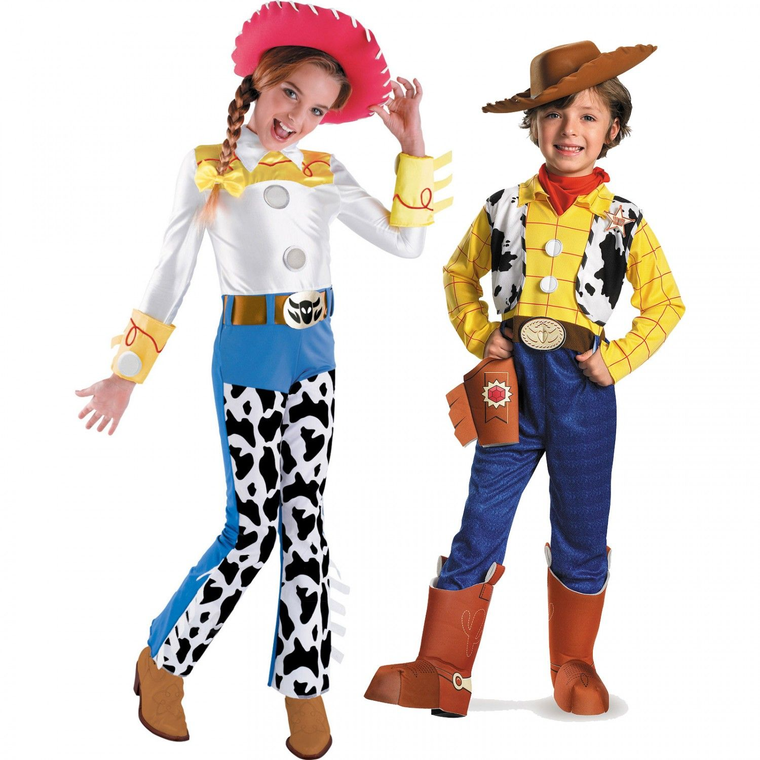Disneyu0027s Toy Story Jesse and Woody Child Couples Costume Image  sc 1 st  Pinterest : woody halloween costume adults  - Germanpascual.Com