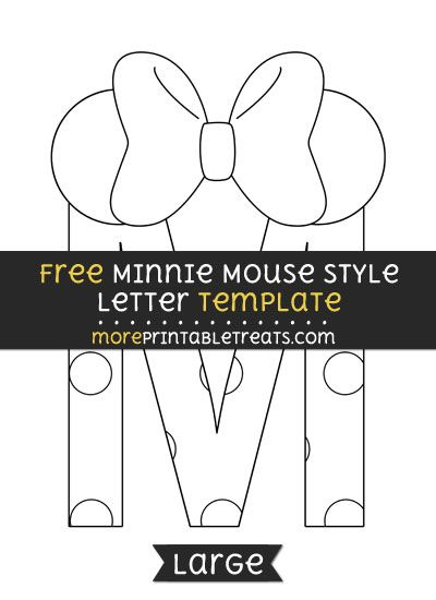 free minnie mouse style letter m template large