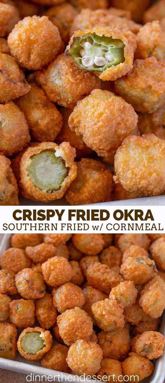 Photo of Southern Fried Okra – Dinner, then Dessert