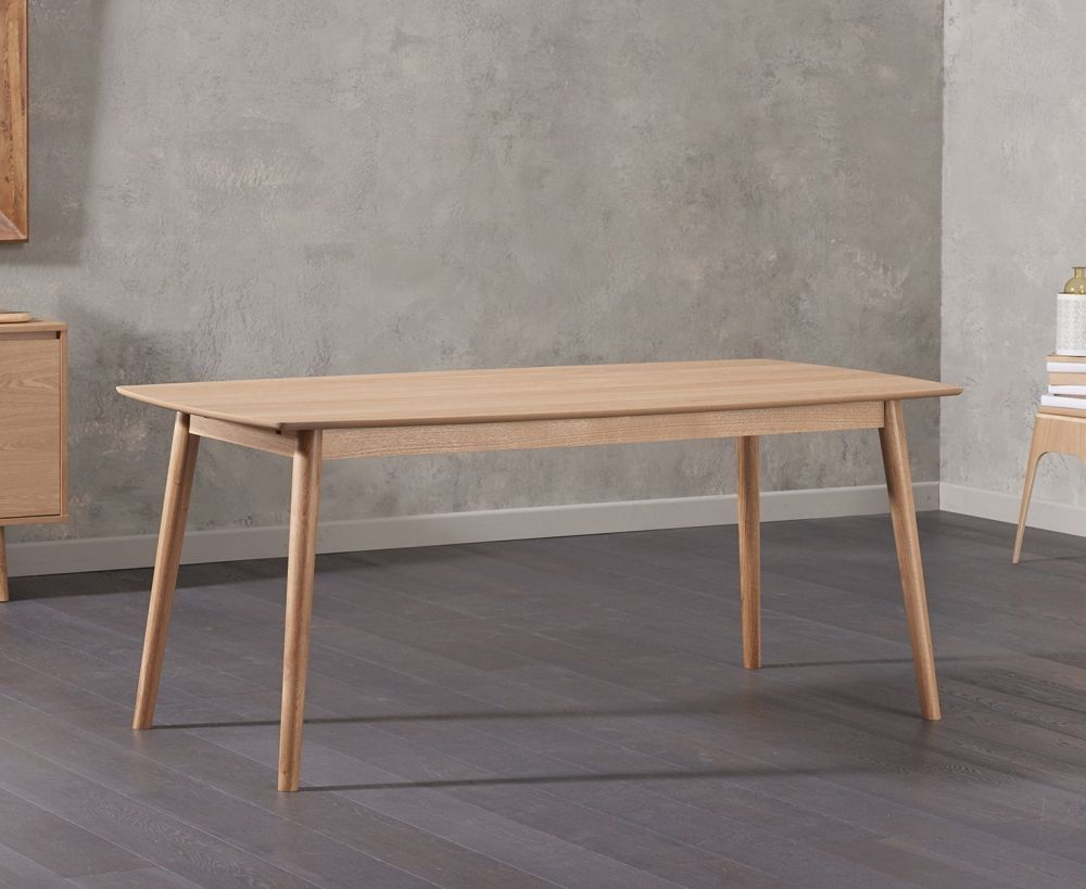 Dining table dimensions standard  Mark Harris Newark Oak Dining Table  cm Rectangular  Dining