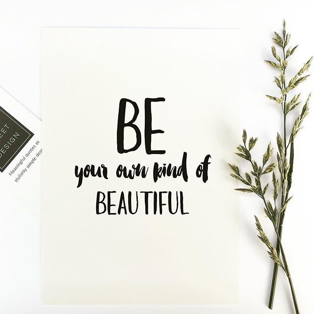 Inspirational quote print u0027Be your own kind of beautiful - purchase quotations