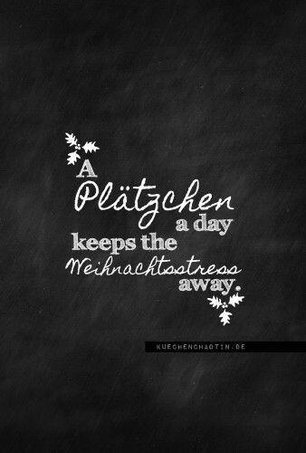 A Plätzchen a day keeps the Weihnachtstress away. - Freebie #1adventbilder