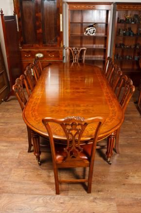 Victorian Dining Table Set Chippendale Chairs Suite Mahogany Victorian Dining Tables Victorian Dining Sets Antique Dining Tables