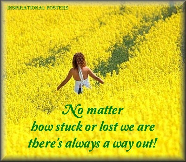 No Matter How Stuck Or Lost