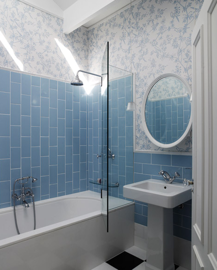 Going Vertical With Subway Tile Bathroom Redesign Bathroom