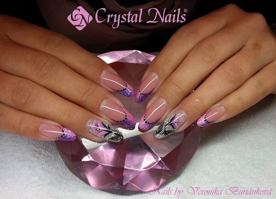 full #diamond #color #gel #nails #crystalnails   Summer time ...