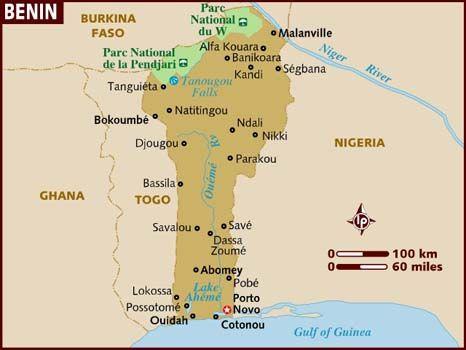 benin city africa map