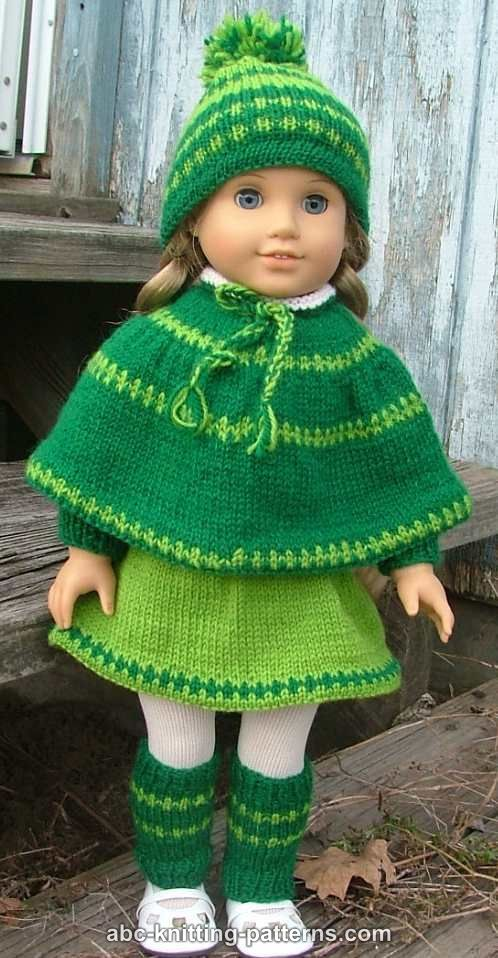 Abc Knitting Patterns American Girl Doll Christmas Carol Outfit