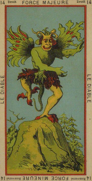The Devil ~ The Book Of Thoth Etteilla Tarot**