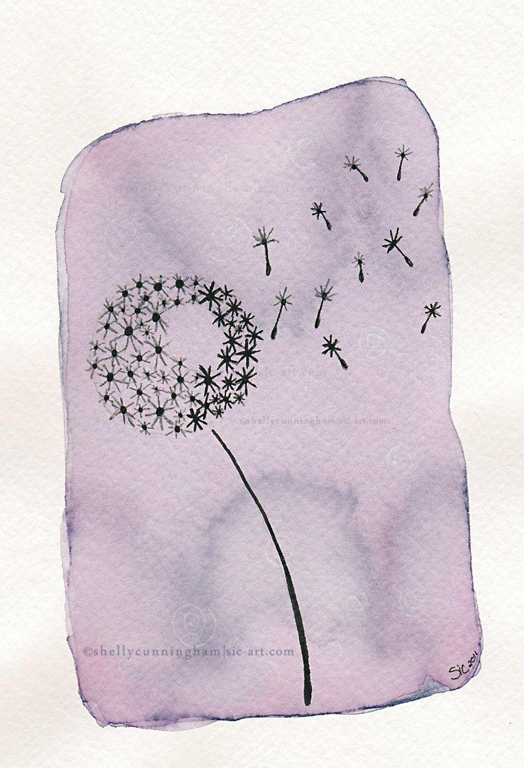 Wish x tea u ink illustration print via etsy art