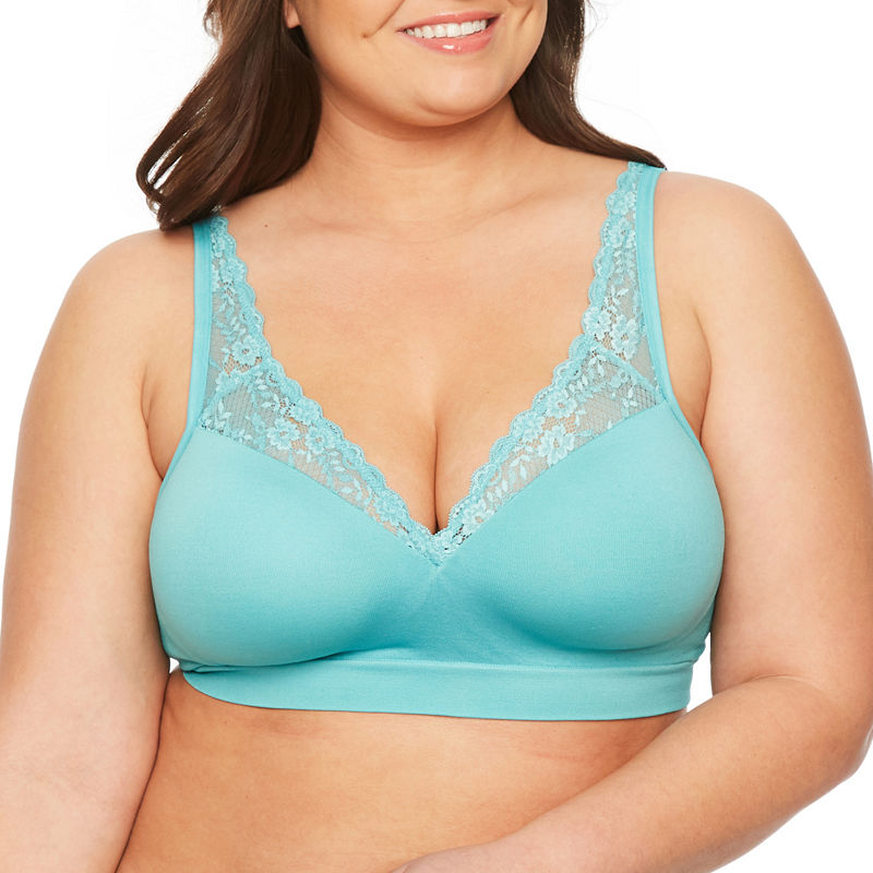 16fd2774ef9d8 Ambrielle Seamless Lace-Straps Padded Bra