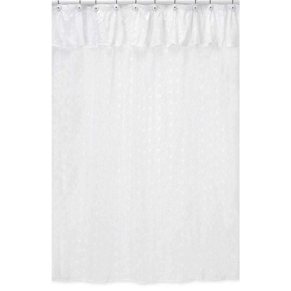 Sweet Jojo Designs Eyelet White Shower Curtain