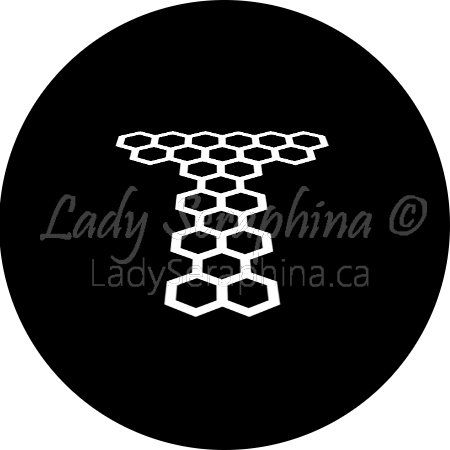 Black and white Torchwood logo.