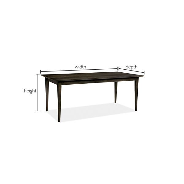 """Adams - Adams Table by the Inch - Dining Tables by the Inch - Custom - Room & Board  Custom table Non extension 84"""" $1,599"""