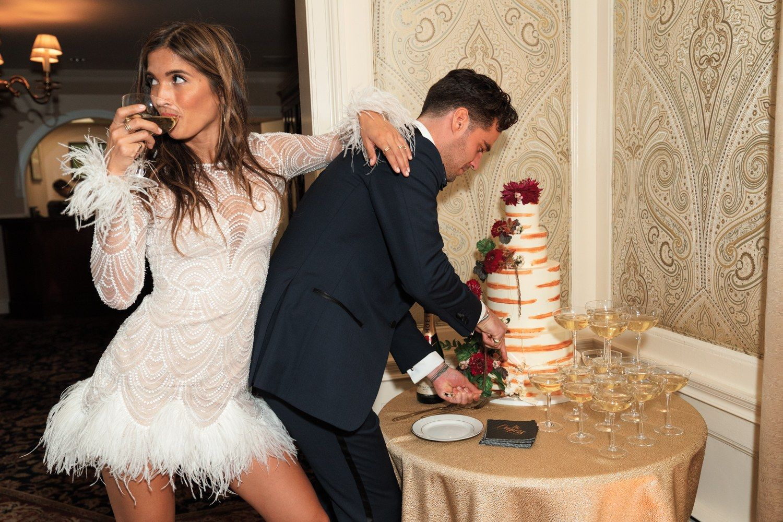 An Inside Look At Rocky Barnes And Matthew Cooper S Wedding Wedding Reception Dress Wedding After Party Wedding Dresses [ 1000 x 1500 Pixel ]