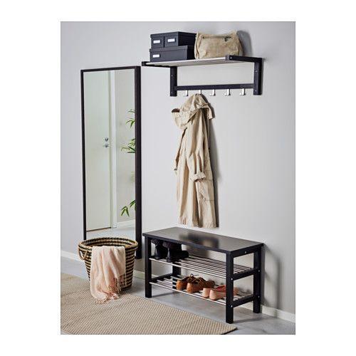 TJUSIG Bänk med skoförvaring svart, 81×50 cm IKEA Home Pinterest Ikea, Svart och Inredning