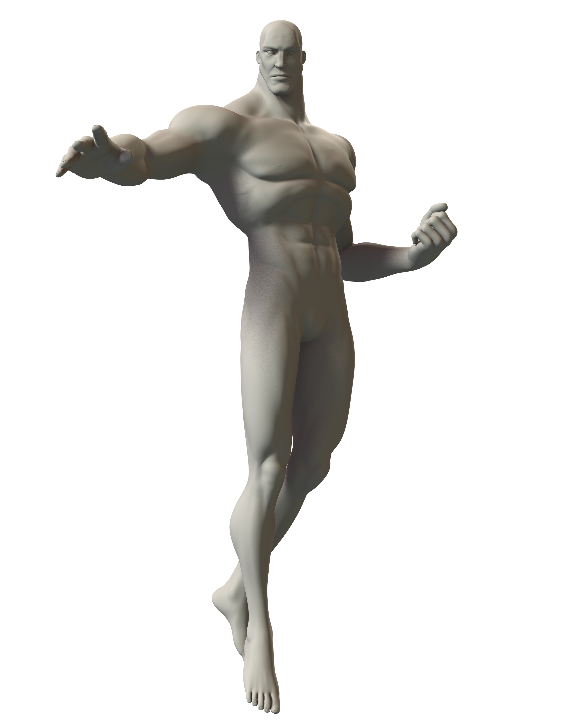 3d Sketch Of A Superhero In A Power Flying Pose Image Is Copyright Free Poses Action Poses Pose Reference