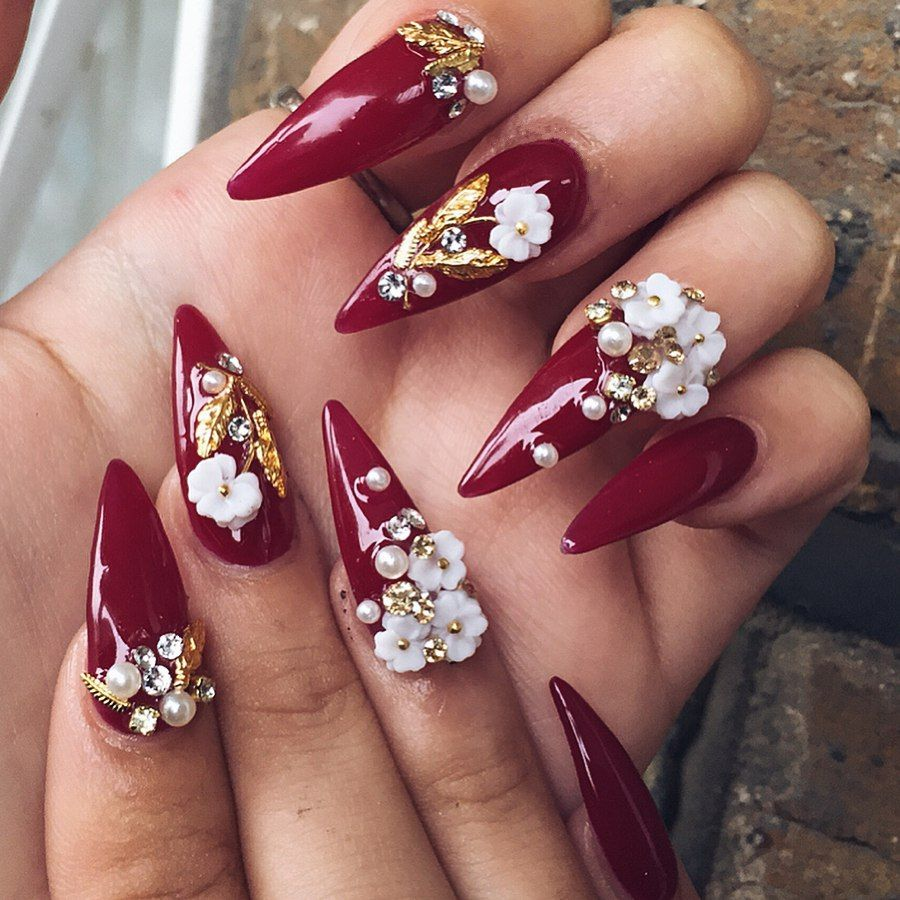 Trending Bridal Nail Art Design Ideas Bridal Inspiration Indian Wedding Inspiration In 2020 3d Nail Art 3d Nail Designs 3d Nail Art Designs