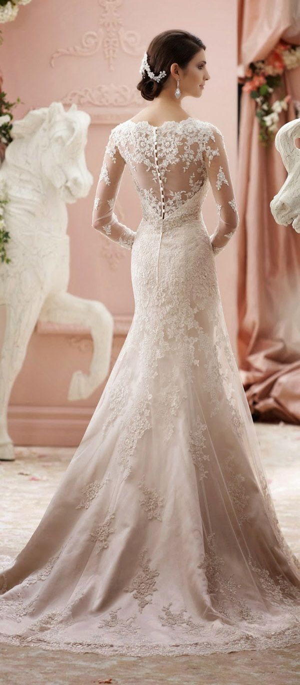 Long sleeve wedding dress lace   Gorgeous Wedding Dresses You Will Love  Vintage lace wedding
