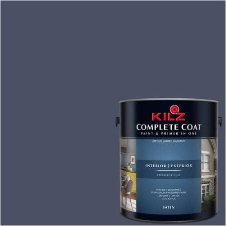 Kilz Complete Coat Interior/Exterior Paint & Primer in One #RB100-01 on exterior paint combination beige black, exterior paint before and after, exterior paint for brick homes,