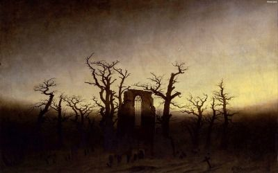 The Abbey in the Oakwood by Caspar David Friedrich (1910)