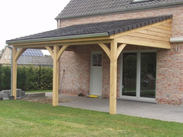 Carports carports candek oak new home for Lean to carport plans