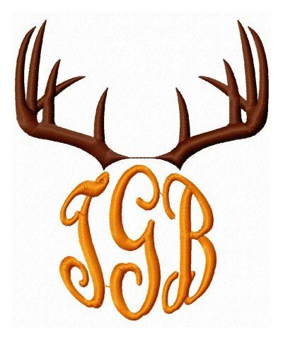 5bc87b7350574 Deer Antler Monogram Frame