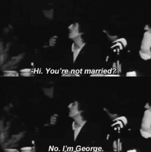 No, I'm George