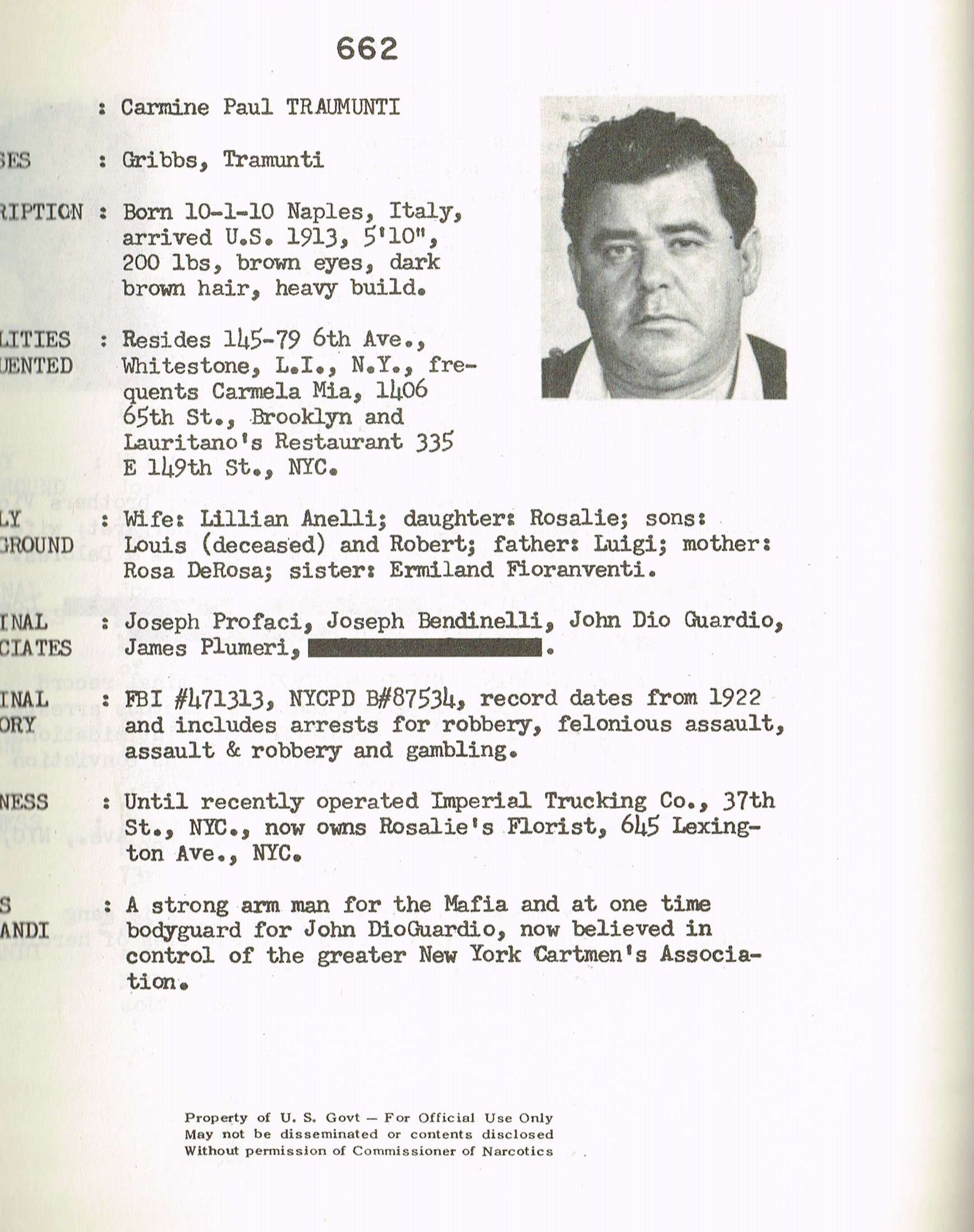Carmine Mr Gribbs Tramunti With Images Crime Family Mobster