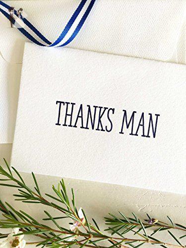 groomsmen thank you card  thanks man  navy  groomsman