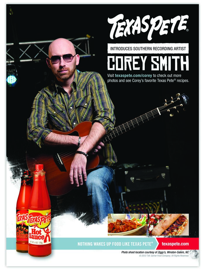 Texas Pete ad featuring country music star Corey Smith. He