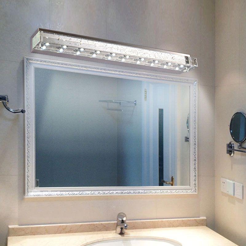 Delicieux Modern Bubble Crystal Tube LED Bathroom Wall Sconce High Power LED Crystal  Washroom Wall Lamp Mirror