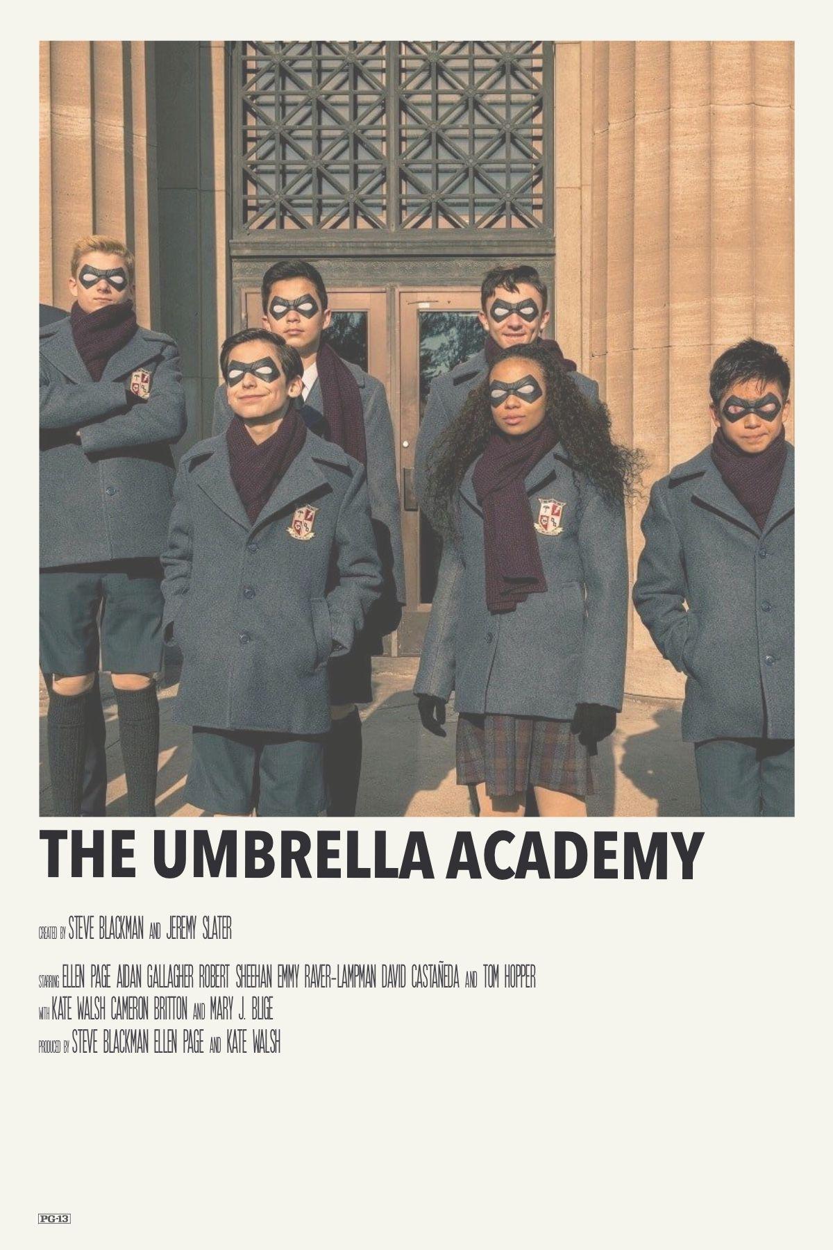 alternative minimalist movie polaroid poster: the umbrella academy by priya