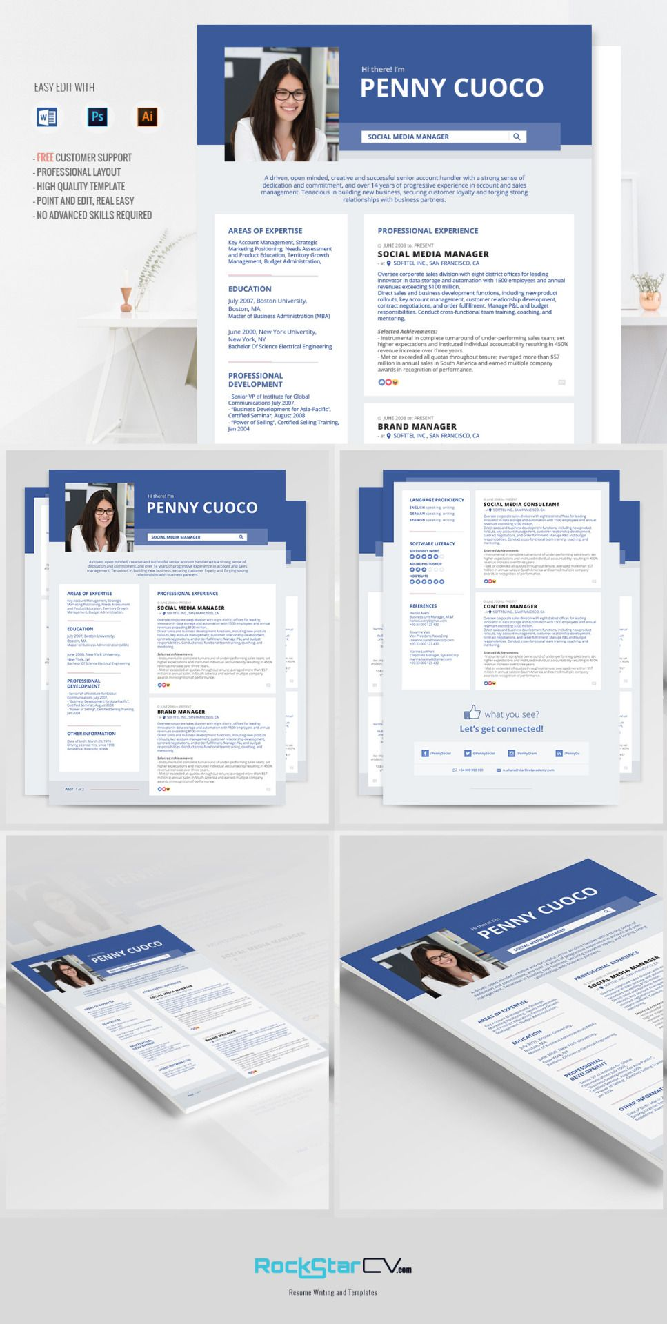 Facebook Timeline Resume Template | Pinterest | Currículum
