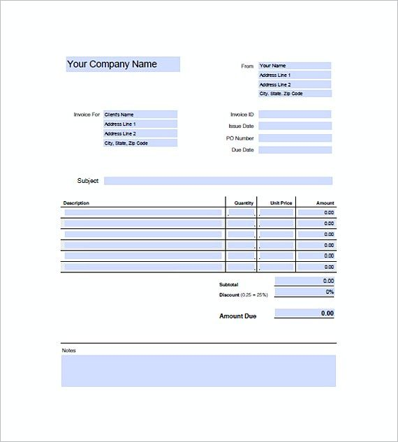 Sample Graphic Design Invoice Templates  Graphic Design Invoice