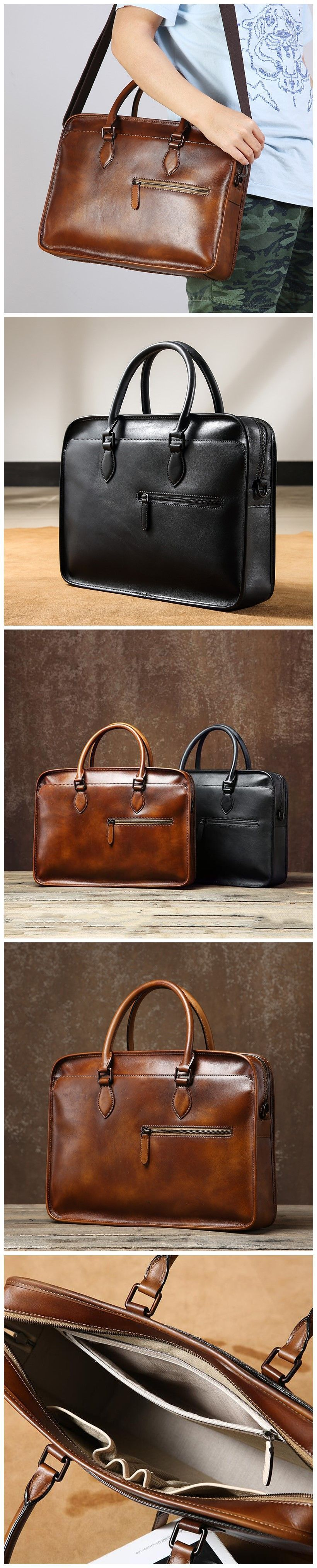 Retro Handmade Men Tote Bag Full Grain Leather Messenger Bag Shoulder Laptop Bag Retro Handmade Men Tote Bag Full Grain Leather Messenger Bag Shoulder Laptop Bag
