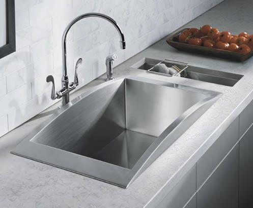 Contemporary Stainless Steel Kitchen Sinks | Kitchen | Pinterest ...
