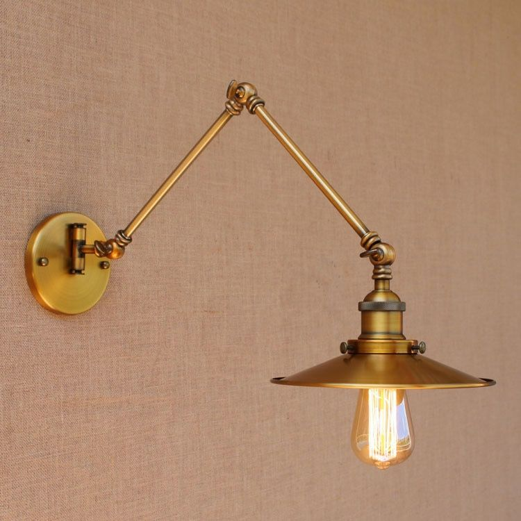 Loft Style Swing Arm Edison Wall Sconce Bedside Wall Lamp Iron Vintage Wall Light Fixtures For Home Indoor Lighting Lampara Wall Lamps