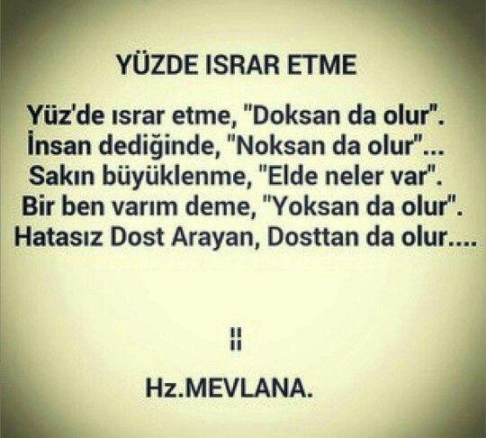 Hz Mevlana Guzel Soz Islamic Quotes Ozlu Sozler