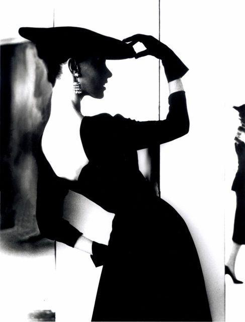 Lillian Bassman :: Barbara Mullen, [Flat Hat, Bare Back], ca. 1950