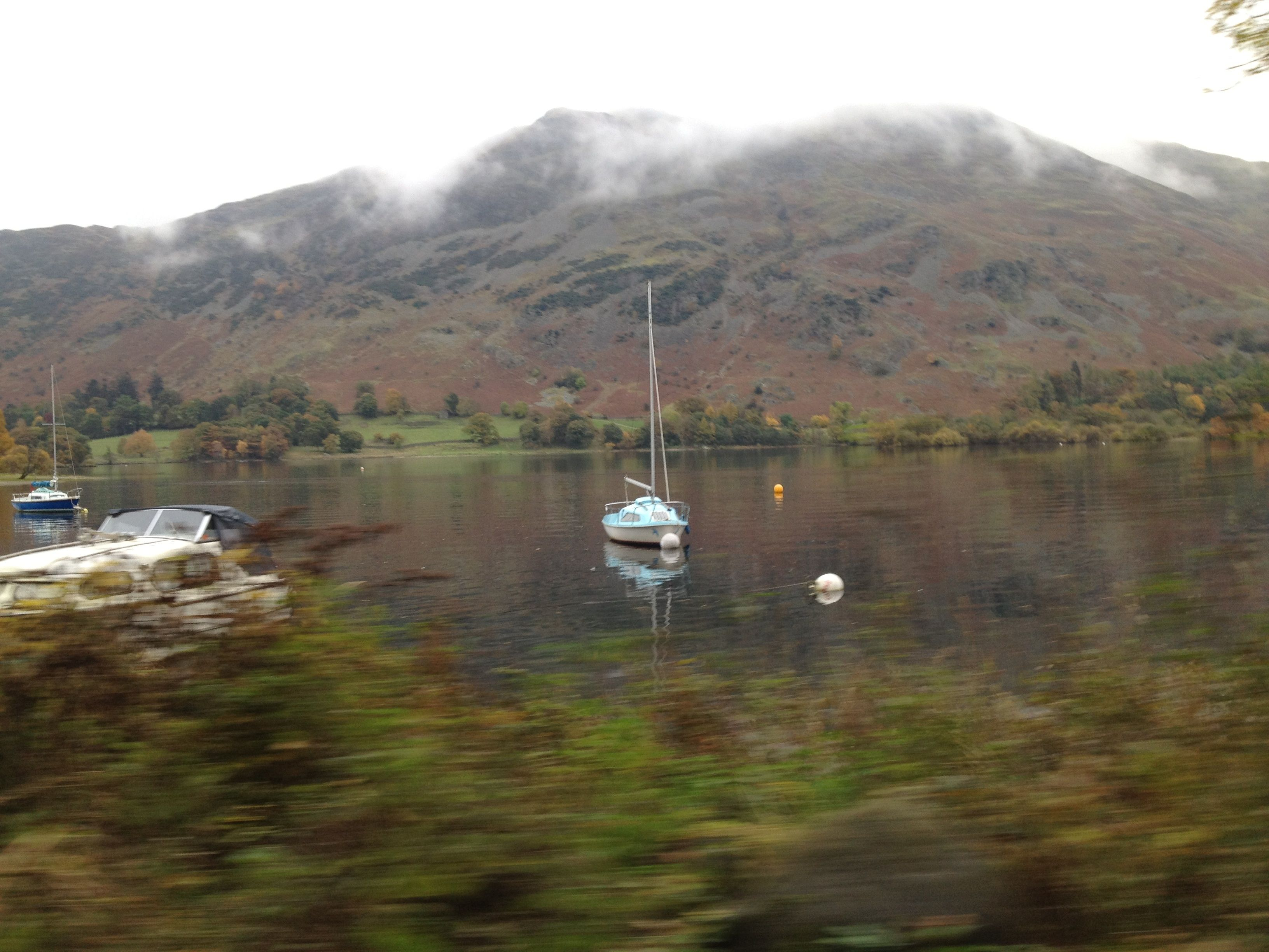 Ullswater Lake with boat