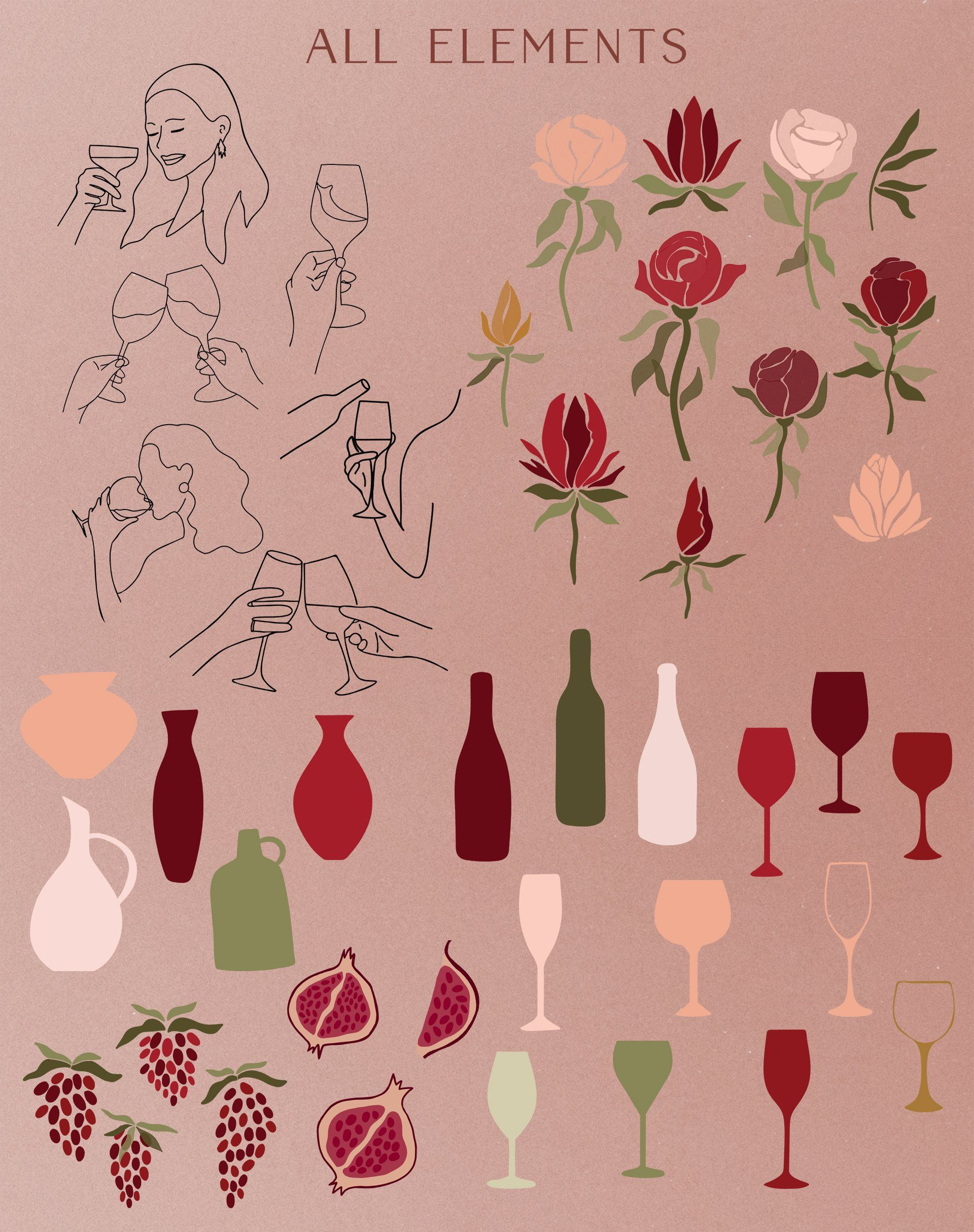 Abstract Wine Collection Bonus In 2020 Wine Collection Wine Theme Instagram Branding