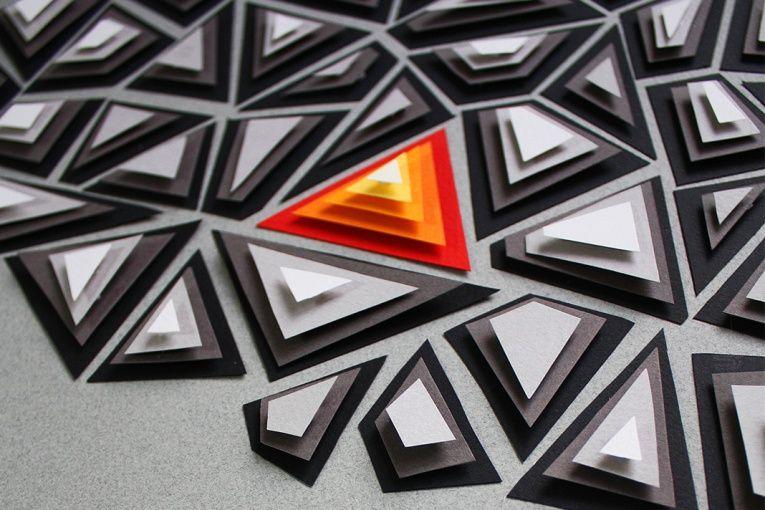 7 Principles Of Design In Art : Paper art: principle of design poster n.7: emphasis by efil türk