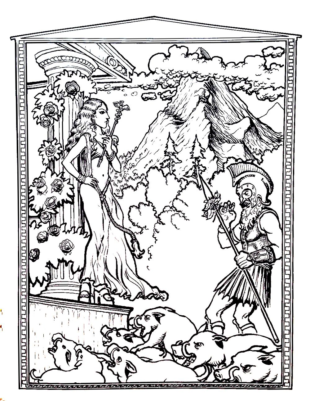 Myths And Legends Have Always Fascinated Inspired Many Books Films TV Series Coloring Pages For AdultsFree