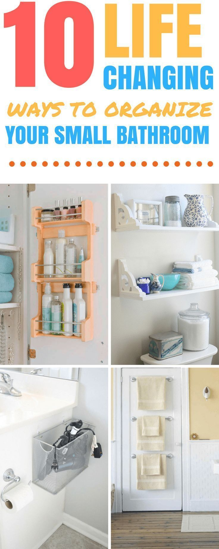 10 Awesome & Cheap Ideas to Organize Your Small Bathroom   Home ...